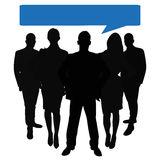 Busines team leaders with speech bubble Royalty Free Stock Photography
