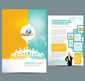 Busines Template. Business brochure Template with icon set Stock Image