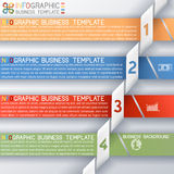 Busines Template four Steps Royalty Free Stock Photos