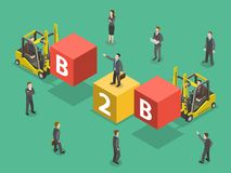 Busines to business flat isometric vector. Royalty Free Stock Images