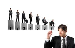 Busines value scale Stock Images