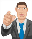 Busines wants you. A business man pointing at the viewer stock illustration
