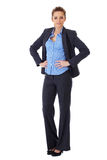 Busines woman full pose shoot over white Royalty Free Stock Photography