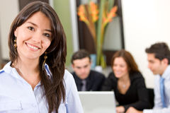 Busines woman in an office Royalty Free Stock Photo