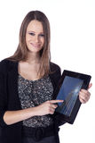 Busines woman with tablet Royalty Free Stock Image