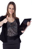 Busines woman with tablet Stock Image