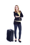 Busines woman traveling Royalty Free Stock Images