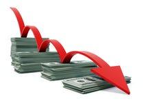 busines wykresu pieniądze Zdjęcia Stock