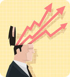 Businesman arrows Royalty Free Stock Image