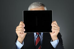 Businesman Behind Tablet Computer Stock Photos