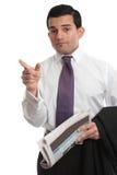 Businesman, das Fingerrichtung zeigt Lizenzfreie Stockfotos