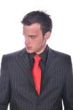 Businesman in elegant suit Royalty Free Stock Image