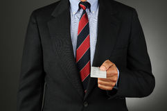 Businesman Holding Credit Card Royalty Free Stock Images