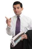 Businesman pointing finger direction Royalty Free Stock Photos