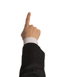 Businesman's hand with clipping path Royalty Free Stock Photo