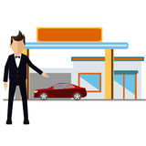 Businesman transportation Stock Photo