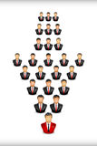 Businesmen in the networking. Vector illustration of a some businessmen who make link for there networking Stock Photography