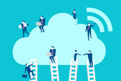 Businespeople with cloud computing Royalty Free Stock Photo