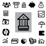 Business & Finance Icon Set Stock Photos