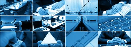 Business. Concept ,set made from my images, blue tone Royalty Free Stock Photo