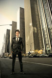 Business. Man in a city street Royalty Free Stock Images