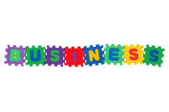 Business. Word Business, from letter puzzle, isolated on white background Stock Photography