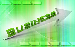 Business. Digital illustration of Business in 3d on colour background stock illustration