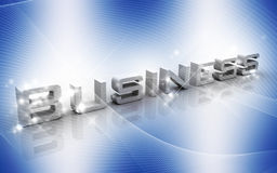 Business. Digital illustration of Business in 3d on colour background royalty free illustration