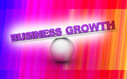 Business. Digital illustration of Business graph in 3d on colour background Royalty Free Illustration