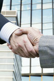 Business. Men of business in progress of negotiations Royalty Free Stock Photography