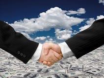 Business. Man teamwork partners shaking hands. handshake Stock Photos