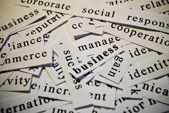 Business. Words related with business concept stock photo