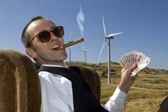 Business. Concept of renewable energy profit stock photography