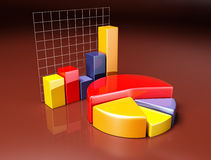 Business 3D graph Royalty Free Stock Images