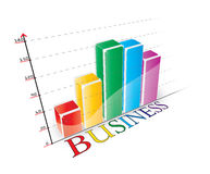 Business 3D graphic royalty free stock images