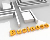 Business 3D text royalty free illustration
