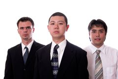 Business 4. Young asian and american co-workers look into the camera Stock Photography