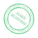 Business. Green seal with make money is approved Royalty Free Stock Photography