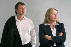 Business. Male and female business people Stock Images