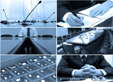 Business. Concept, set made from my images, blue tone Royalty Free Stock Photos