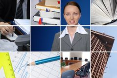 Business. Conceptual image grid of business photos Royalty Free Stock Photography