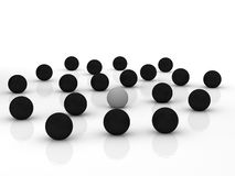 Business. 3D balls representing team and the boss - success Stock Photos