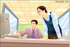 Business. Working hard working in the office Royalty Free Stock Images