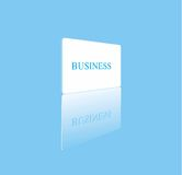 Business. The word business on a white card with its reflection Stock Photo