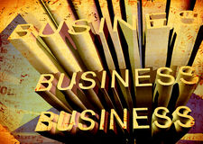 Business. Grunge background with business text Royalty Free Stock Photography