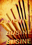 Business. Grunge background with business text Stock Images