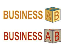 Business ABC. Sign  illustration Royalty Free Stock Image