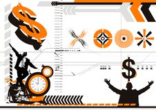 Business Abstract. Background vector format stock illustration