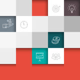 Business Abstract Background. Business background with thin lines icons - template for web or print. Can illustrate success, growth, business meetings Royalty Free Stock Photos