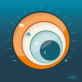 Business Abstract Circle icon. Royalty Free Stock Photo